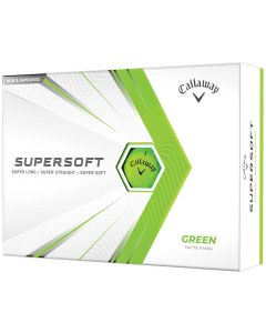 Callaway Supersoft Matte Green Personalized Golf Balls