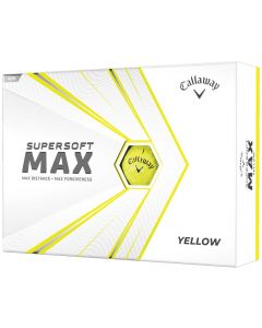 Callaway Supersoft MAX Yellow Personalized Golf Balls
