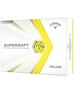 Callaway 2021 Supersoft Yellow Golf Balls