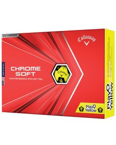Callaway Chrome Soft Truvis Play Yellow Golf Balls Box