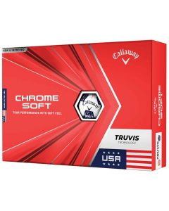 Callaway Chrome Soft Truvis Usa Golf Balls Box