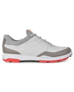 Ecco BIOM Hybrid 3 GTX Golf Shoes Concrete/Scarlet