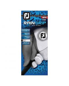FootJoy RainGrip Golf Gloves - Pair White