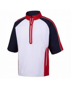 FootJoy Short Sleeve Sport Windshirt White/Red/Navy