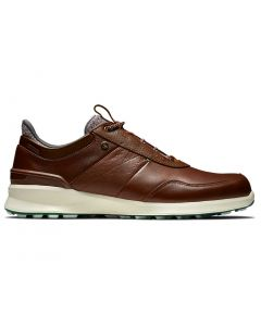 Footjoy Stratos Golf Shoes Cognac Profile