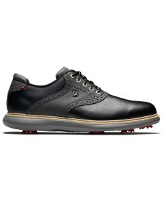 Footjoy Traditions Golf Shoes Black Profile