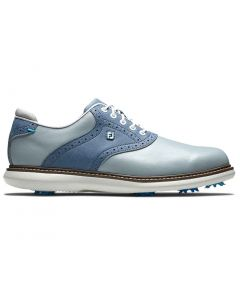 Footjoy Traditions Golf Shoes Blue Profile
