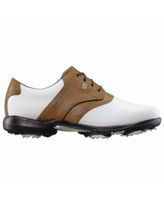 FootJoy Women's DryJoys Golf Shoes White/Brown