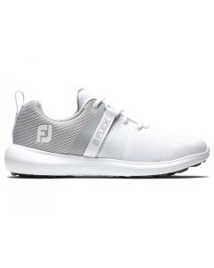 Footjoy Womens Flex Golf Shoes White Grey Profile