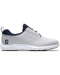 Footjoy Womens Leisure Golf Shoes Grey Navy Profile