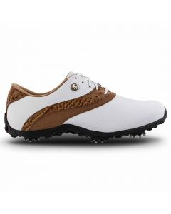 FootJoy Women's LoPro Golf Shoes White/Tan