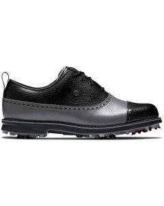 Footjoy Womens Premiere Series Golf Shoes Charcoal Black Cap Toe Profile