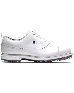 Footjoy Womens Premiere Series Golf Shoes White Cap Toe Profile
