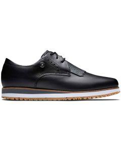 Footjoy Womens Sport Retro Golf Shoes Black Profile