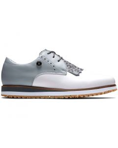 Footjoy Womens Sport Retro Golf Shoes White Light Grey Profile