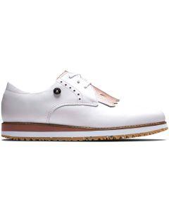 Footjoy Womens Sport Retro Golf Shoes White Pink Profile