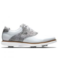 Footjoy Womens Traditions Golf Shoes White Grey Profile