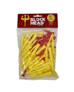 Block Head Golf Tees Combo Pack 2.75 inch/1.5 inch