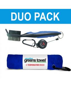Golf Accessories Clip Wipes Greens Towel Plus Terminator Brush Royal