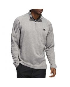 Golf Apaprel Adidas Novelty Heather Quarter Zip Pullover Grey Three