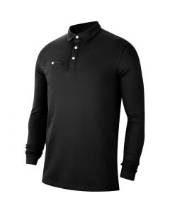 Golf Apaprel Nike Dri Fit Player Longsleeve Polo Black