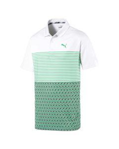 Golf Apaprel Puma 2019 Boys Road Map Polo White Irish Green