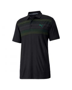 Golf Apaprel Puma Aw20 Road Map Polo Black