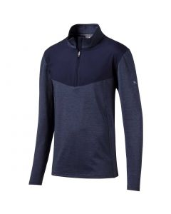 Golf Apaprel Puma Preston Quarter Zip Pullover Peacoat_1