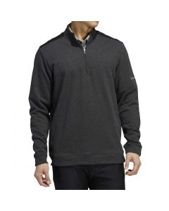 Golf Apparel Adidas Fw20 Club Heather Quarter Zip Pullover Black