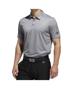 Golf Apparel Adidas Ss20 Novelty Print Polo Grey Three