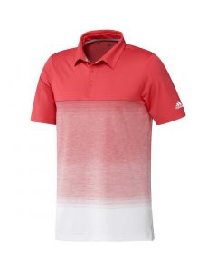 Golf Apparel Adidas Ss20 Ultimate365 Fade Stripe Oc Polo Real Coral