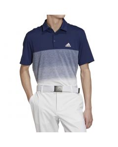 Golf Apparel Adidas Ss20 Ultimate365 Fade Stripe Polo Dark Blue White