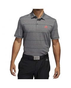 Golf Apparel Adidas Ss20 Ultimate365 Heathered Stripe Polo Black