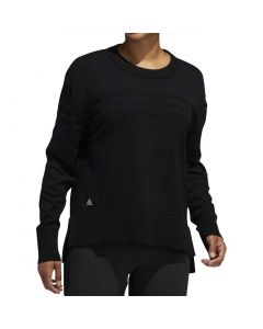 Golf Apparel Adidas Ss20 Womens Stripe Sweater Black