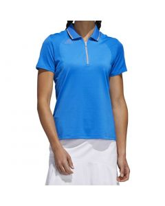 Golf Apparel Adidas Ss20 Womens Aeroready Engineered Polo Glory Blue