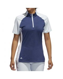 Golf Apparel Adidas Ss20 Womens Colorblock Polo Tech Indigo