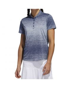 Golf Apparel Adidas Ss20 Womens Gradient Polo Sky Tint