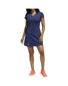 Golf Apparel Adidas Ss20 Womens Jacquard Dress Tech Indigo