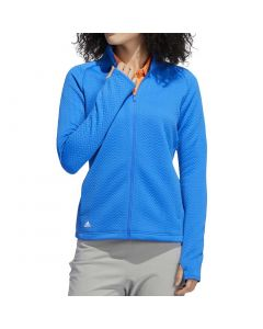 Golf Apparel Adidas Ss20 Womens Textured Layer Jacket Glory Blue