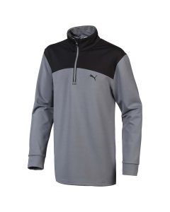 Golf Apparel Puma Boys Colorblock Quarter Zip Quiet Shade