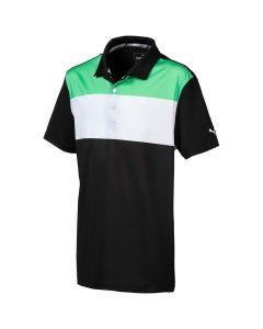Golf Apparel Puma Boys Nineties Polo Irish Green Black