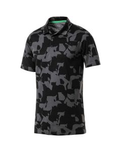Golf Apparel Puma Boys Union Camo Polo Iron Gate