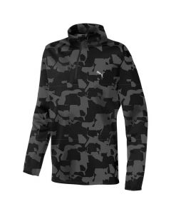 Golf Apparel Puma Boys Union Camo Pullover Juniper