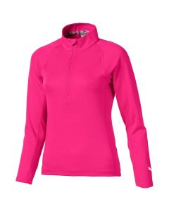 Golf Apparel Puma Girls Quarter Zip Pullover Fuchsia Purple