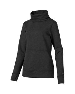 Golf Apparel Puma Womens Brisk Pullover Dark Grey Heather