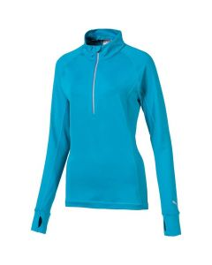 Golf Apparel Puma Womens Rotation Pullover Caribbean Sea