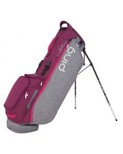 Golf Bag Ping Hoofer Lite Stand Bag Grey Garnet Magenta_1