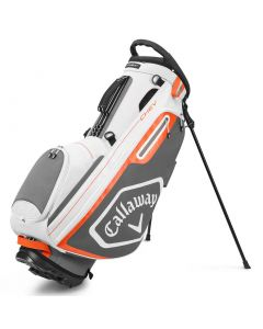 Golf Bags Callaway Chev Stand Bag White Charcoal Orange