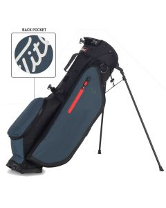Golf Bags Titleist Players Small Logo Stand Bag Black Charcoal Charcoal Pocket