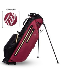 Golf Bags Titleist Players Stadry Small Logo Stand Bag Crimson Black Tan